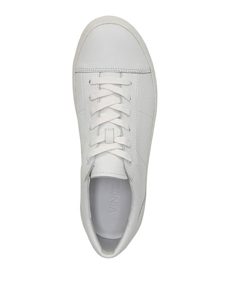 Afton Leather Low-Top Sneakers, White