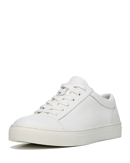 Afton Leather Low-Top Sneaker, White