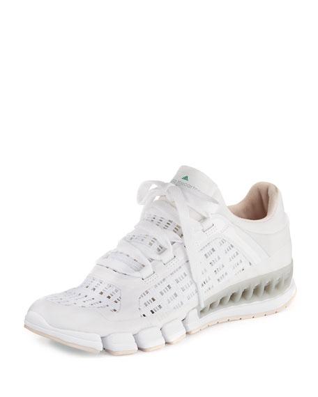 5f62b85981e8 adidas by Stella McCartney Clima Cool Knit Running Sneaker, White/Black Echo