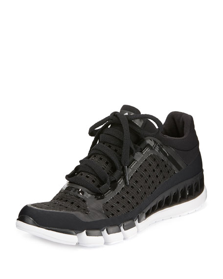 Clima Cool Knit Running Sneaker, Black/White