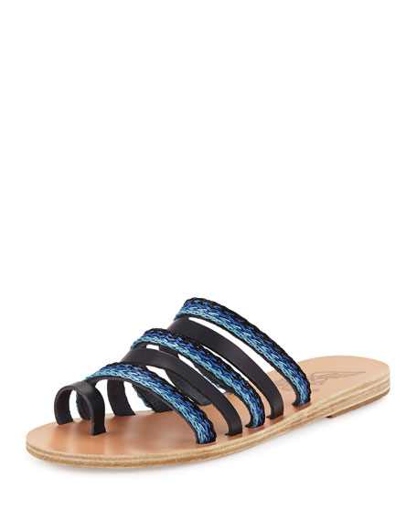 Ancient Greek Sandals Niki Braided Toe-Ring Slide Sandal,