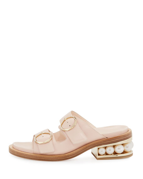 Casati Pearly Two-Strap Sandal, Blush
