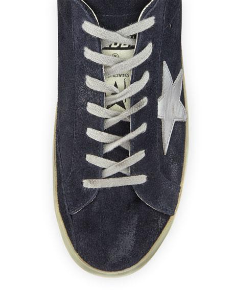 Superstar Suede Low-Top Sneaker, Blue/Silver