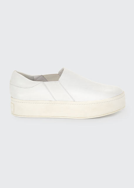 Warren Leather Platform Skate Sneakers