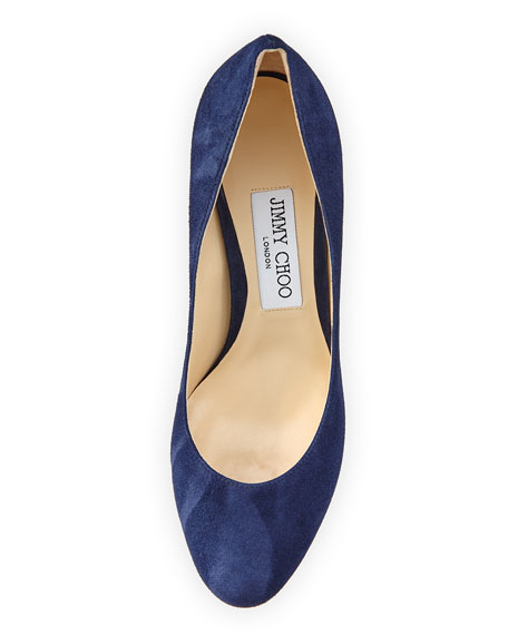 Billie Suede 85mm Pump, Navy