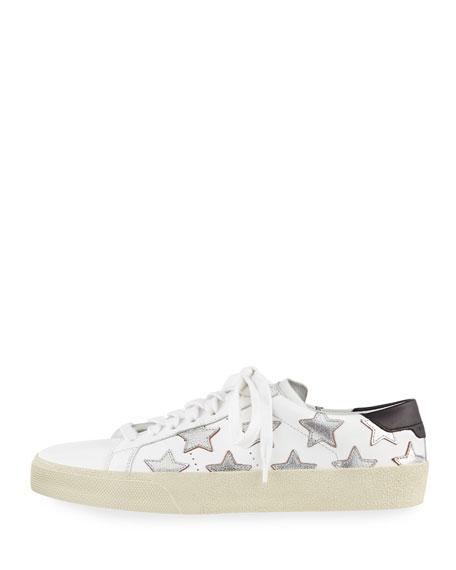 Court Classic Denim Low-Top Sneaker, Silver