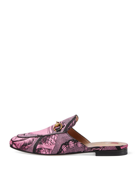 Toile Princetown Mule