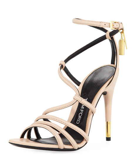 feb4dbbbeaf TOM FORD Strappy Leather Ankle-Lock Sandal