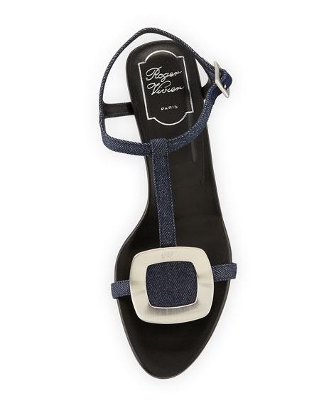 7651cb8c9cb Roger Vivier Chips Denim Block-Heel Sandal