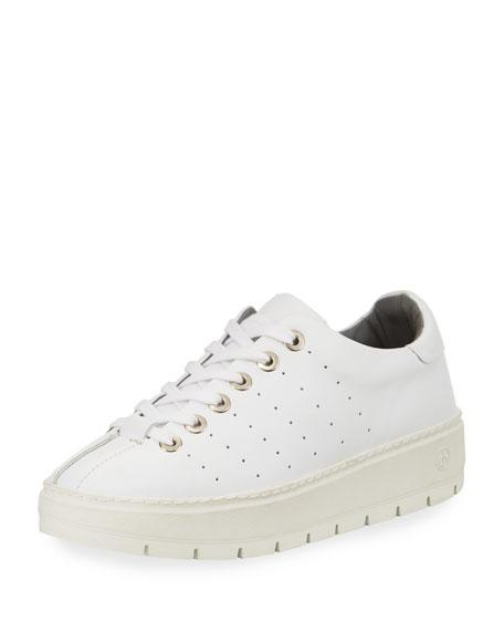 Linden Leather Platform Sneaker, White