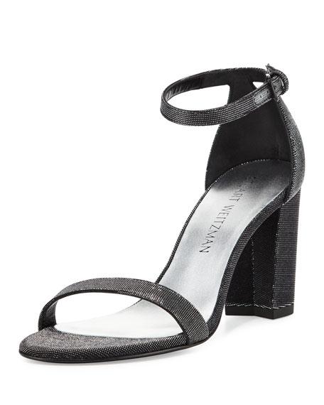 Stuart Weitzman Nearlynude Shimmery City Sandal