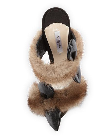 Celeste Mink Fur Mule Sandal