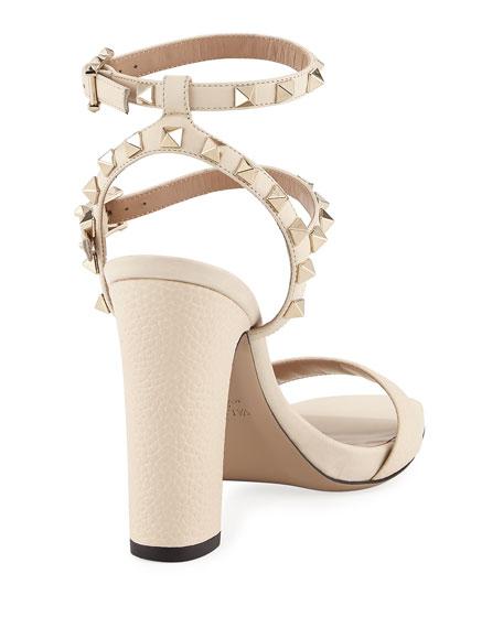 Rockstud 100mm Chunky-Heel Sandal