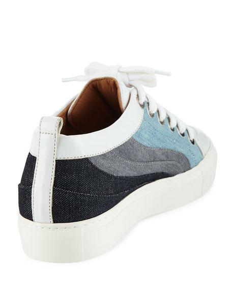 Kool Patchwork Denim Low-Top Sneakers, Multicolor