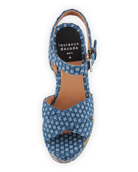 Helissa Mesh Platform Sandal