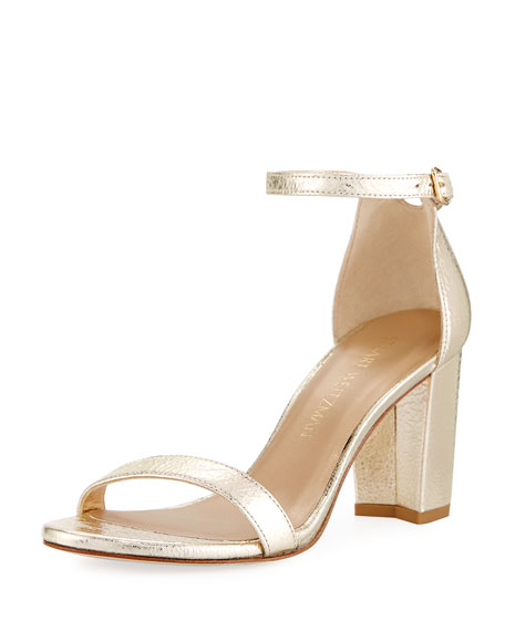Nearlynude Metallic 55mm Sandal, Gold