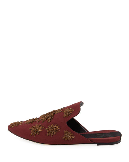 Ragno Embroidered Mule Slide