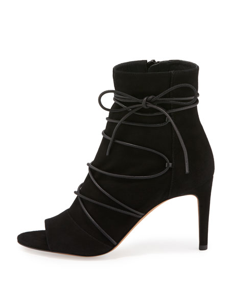 Adisa Lace-Up Open-Toe Ankle Boot