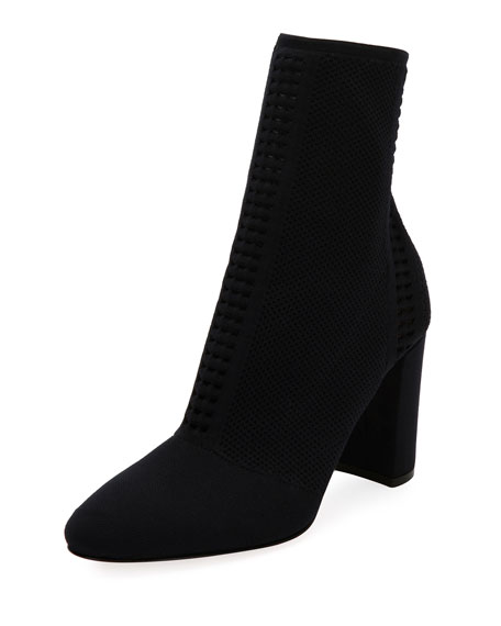 Stretch-Knit Mid-Calf Bootie