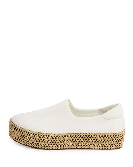 Cici Knit Platform Sneaker, White