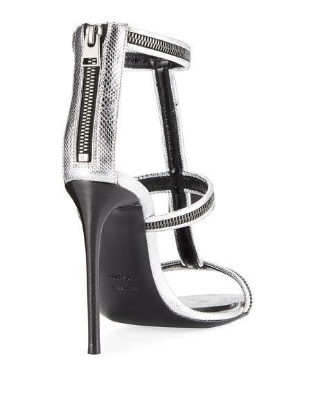 Zipper Caged 105mm Sandal