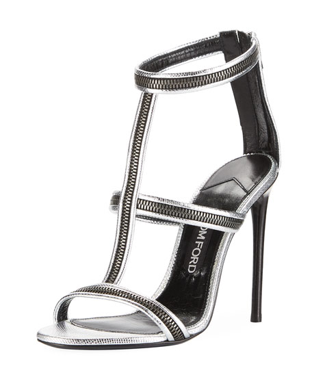 TOM FORD Zipper Caged 105mm Sandal