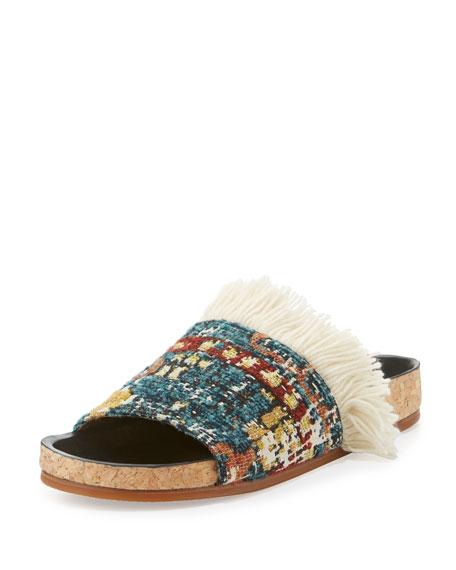 Chloe Kerenn Kilim-Rug Slide Sandal, Multicolor