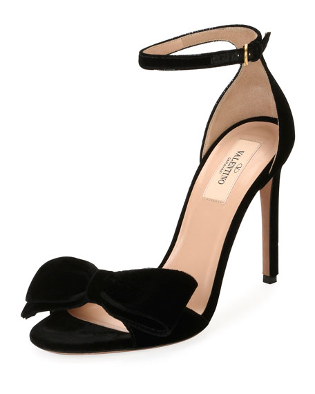Valentino Velvet Bow Sandal clearance with mastercard comfortable cheap online discount popular discount browse cheap sale looking for YuVKDje