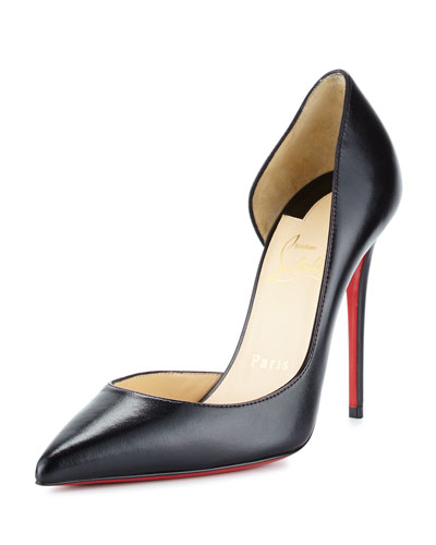 Iriza Half-d\u0027Orsay 100mm Red Sole Pump, Black Quick Look. Christian  Louboutin