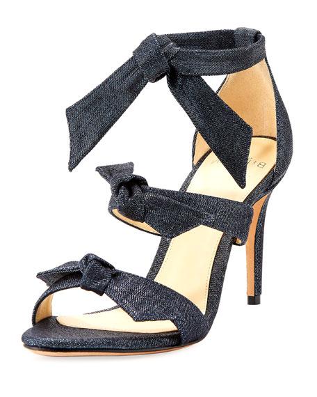 Gianna Three-Bow Denim Sandal