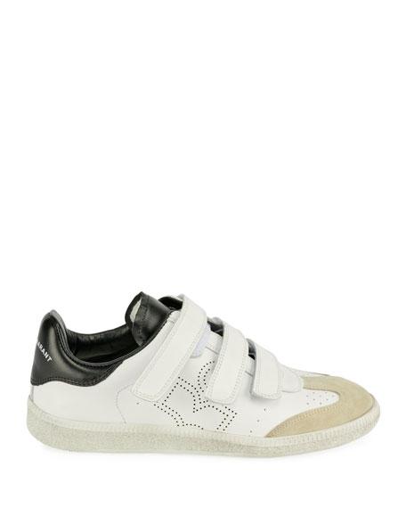 Beth Grip-Strap Sneaker, White