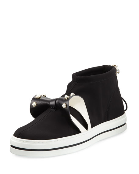 Sneaky Lolita Pearly Bow Sneaker