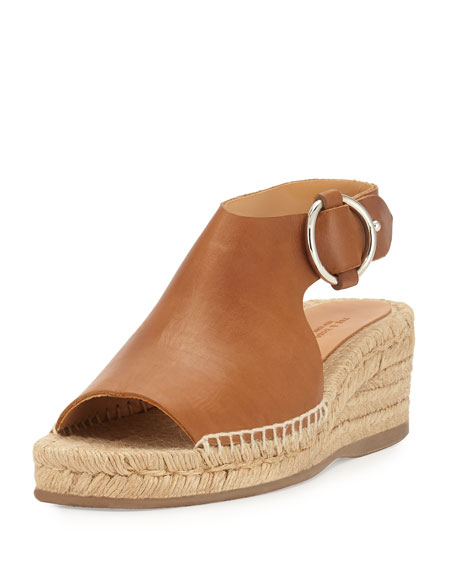 Rag & Bone Calla Leather Wedge Espadrille Sandal,