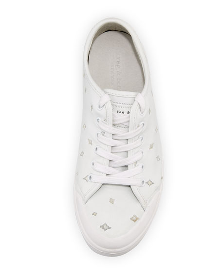 Standard Issue Embroidered Sneaker, White