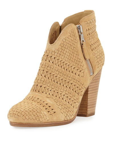 Margot Woven Ankle Bootie, Camel