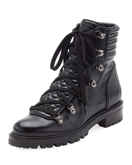 new product d1eb2 51a51 Mad Leather Lace-Up Ankle Boot Black