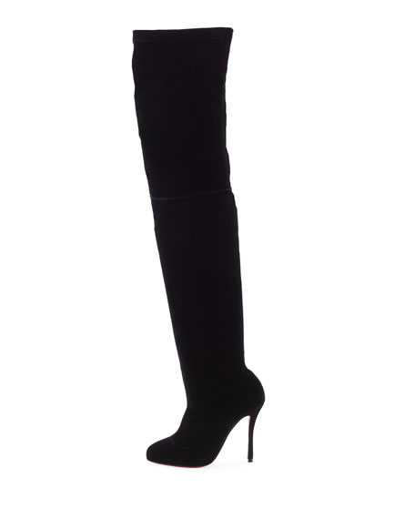 8ff0edfc9d3 Christian Louboutin Classe Velvet Red Sole Over-the-Knee Boot
