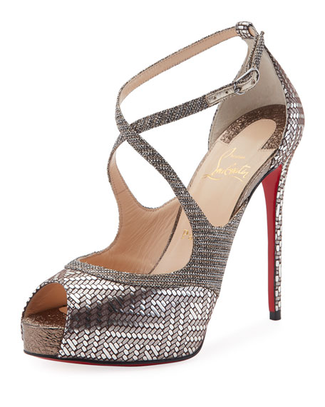 Christian Louboutin Mira Bella Peep-Toe Red Sole Sandal,