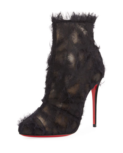 Toubootfrou Frayed Red Sole Boot