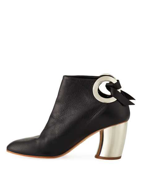 70mm Bootie W/ Metal Heel, Black