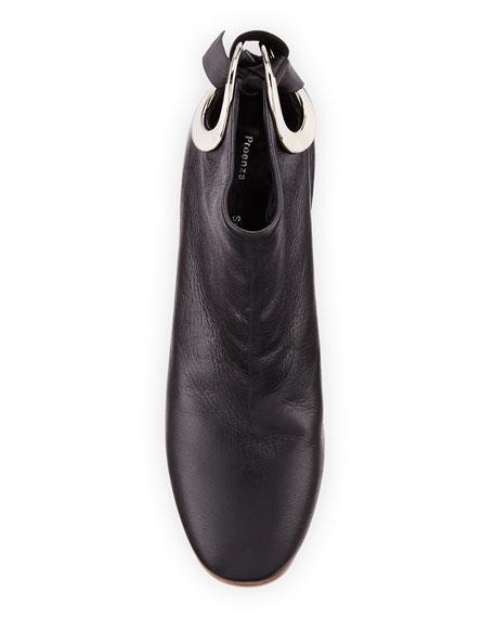 70mm Bootie W/ Metal Heel, Black