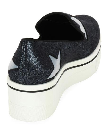 Binx Stars Glittered Loafer, Blue