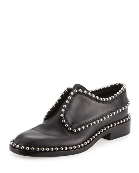 Alexander Wang Wendie Studded Laceless Loafer, Black