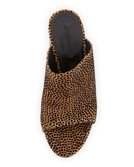 Avery Dotted Mule Sandal, Brown/Multi