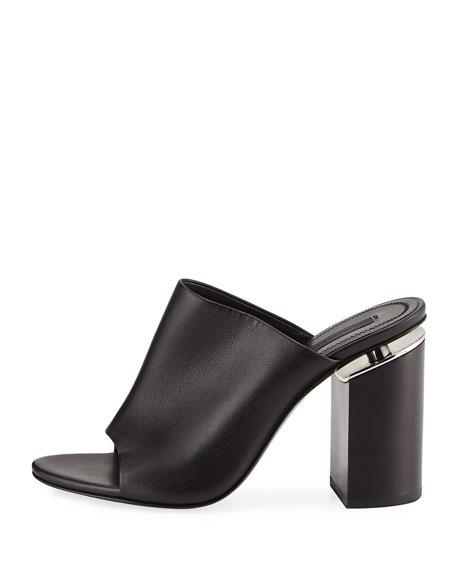 e528ec8be67 Alexander Wang Avery Leather Block-Heel Mule Sandal