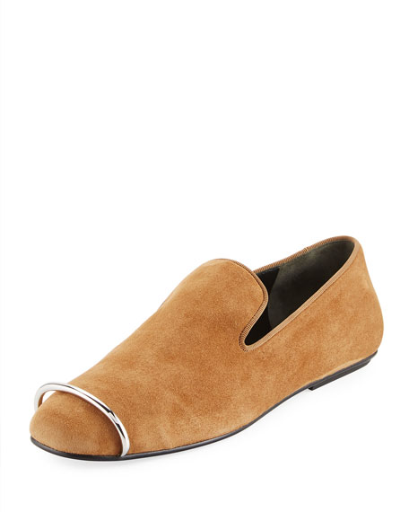 Alexander Wang Binx Suede Hardware Loafer, Brown