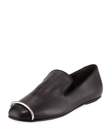 Alexander Wang Binx Leather Hardware Loafer, Black