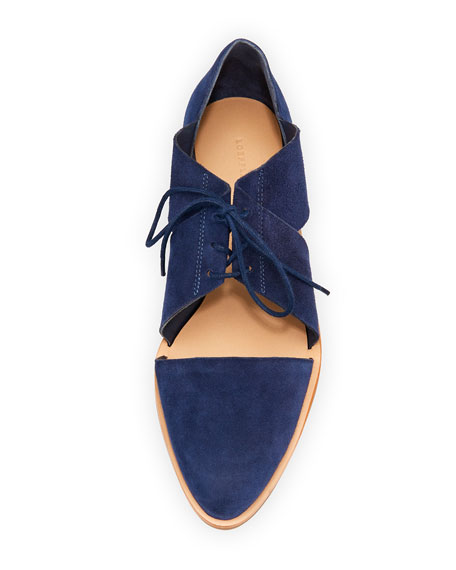 abc986eec08 Willa Cutout Suede Oxford Blue