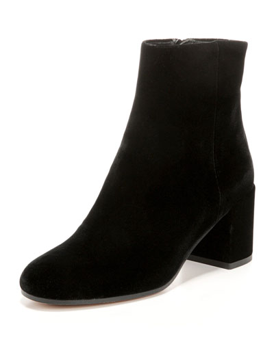60mm Blakely Velvet Bootie, Black