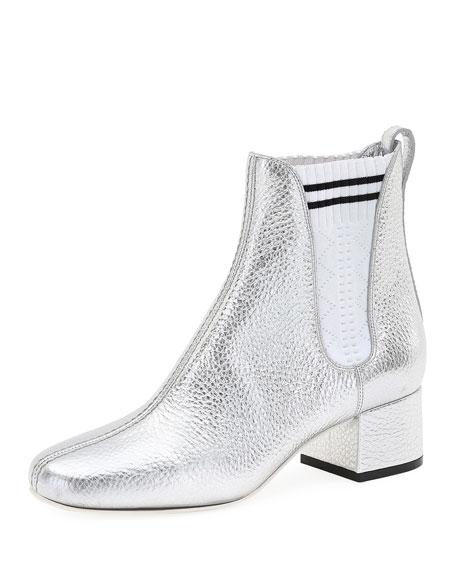 Metallic Leather Chelsea Boot